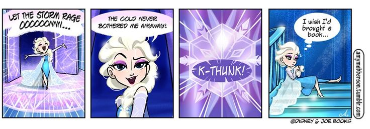 Amy Mebberson is my most favoritest artist ever. She does the Pocket Princess comics and this is her tumblr. http://amymebberson.tumblr.com/  She is awesome. This Elsa is proof.