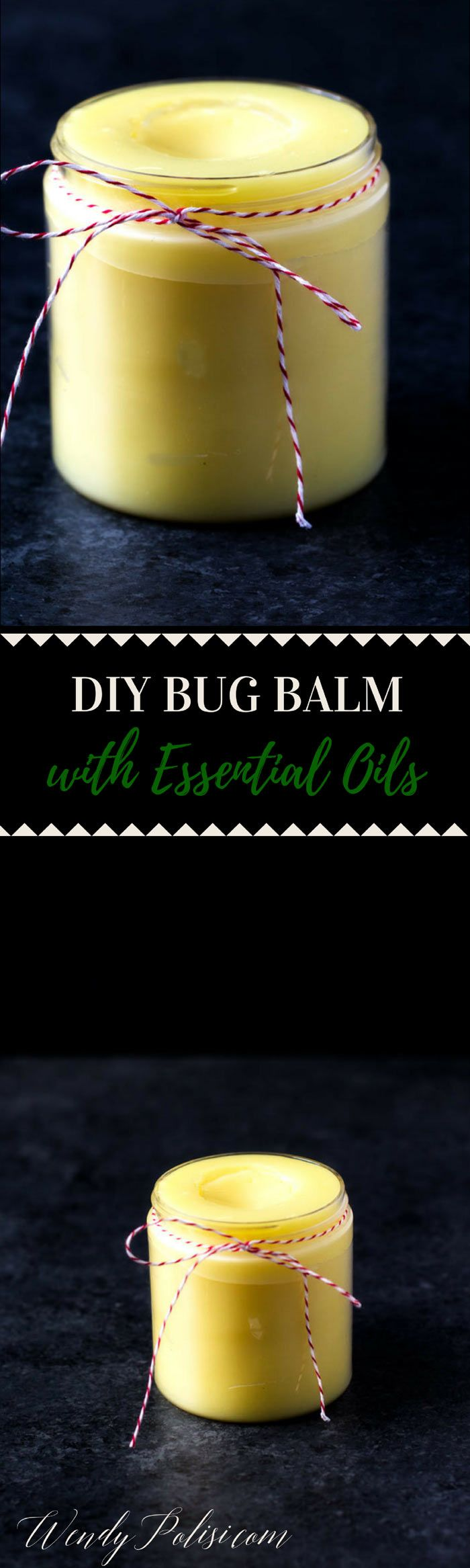 This DIY Bug Balm with Essential Oils is a heavy-duty insect repellant that works on mosquitoes, no-see-ums, biting flies, bees and more! via @wendypolisi