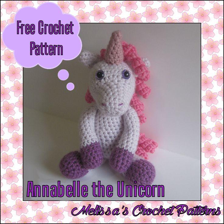 Free crochet pattern on Ravelry! Annabelle the Unicorn.