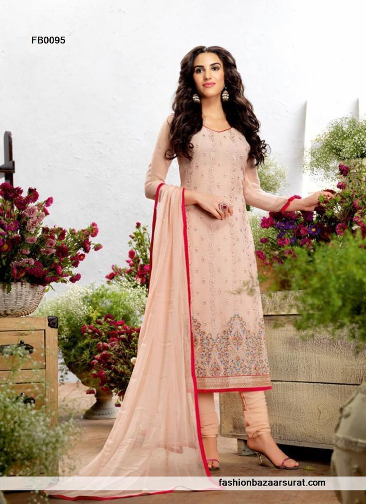 buy Dazzling Designer Pink Party Wear Churidar Salwar Suit online ...