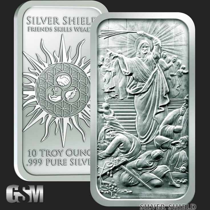 silver bars clearing the temple bars   10 oz Jesus Clears the Temple Silver Bullion Bars .999 Fine - Golden ...