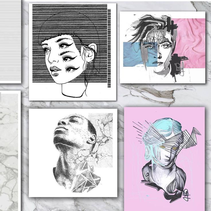 SELECTED WORKS.  .  .  #art #artwork#artist #janofarkasart #contemporary #contemporaryart #graphicdesig #portrait #dope #modernart #instart #surrealism #illustration