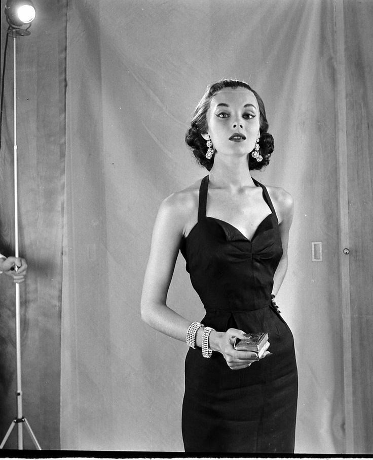 Vikki Dougan, July 1952  (Can't help noticing that the model appears anorexic)
