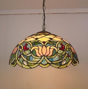 creative lotus pond senior european single head chains tiffany chandelier living room chandelier chandelier villa aisle - Tiffany Chandelier