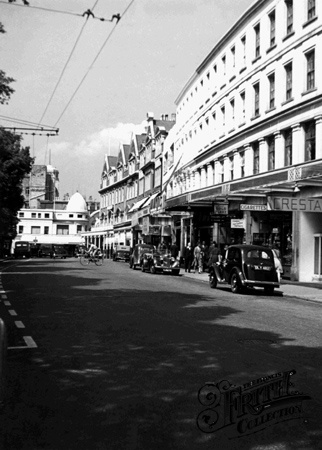 Old photo of Westover Road c1955, Bournemouth
