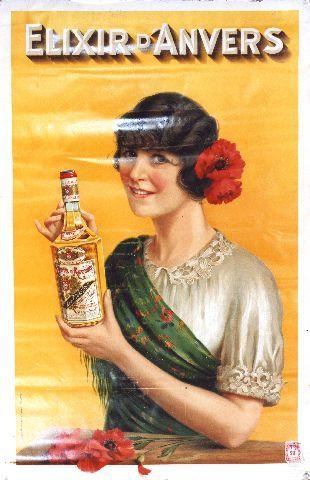 Elixir d'Anvers - circa 1910 vintage poster