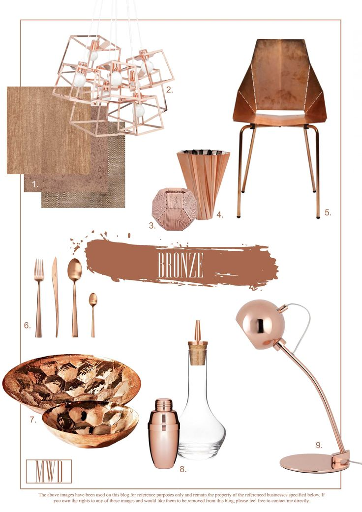 Brilliantly Bronze: Trends for the Home
