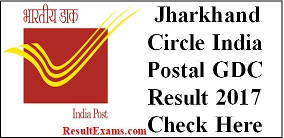Jharkhand Circle India Postal GDCResult 2017,gramin dak
