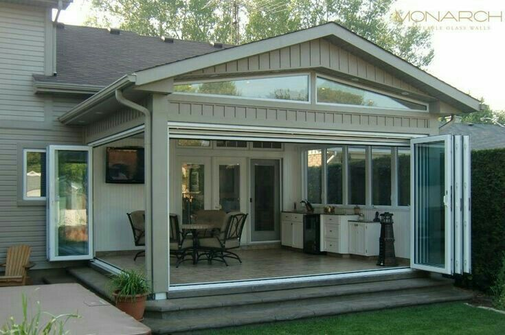Pin By Debbie Nicoline On Ide Ide Untuk Rumah Glass Porch Glass Doors Patio Outdoor Living Rooms
