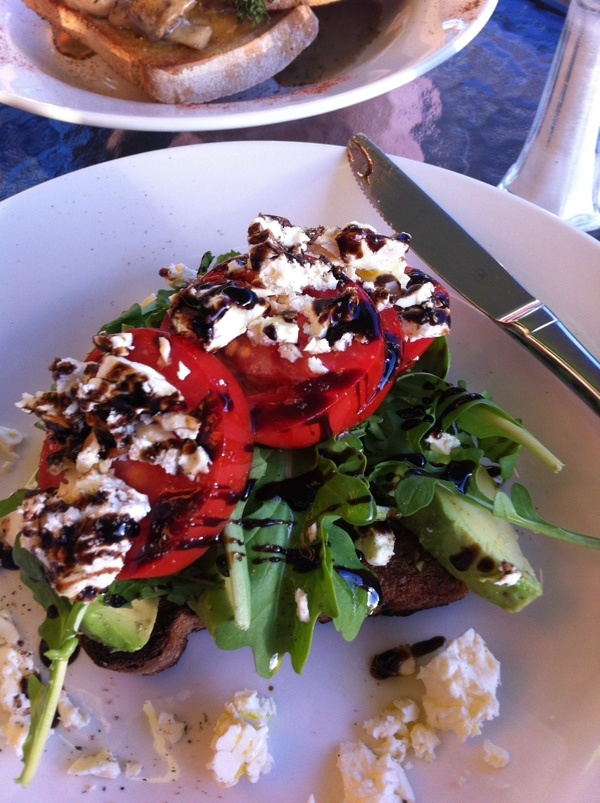 Roma tomatoes, feta and balsamic