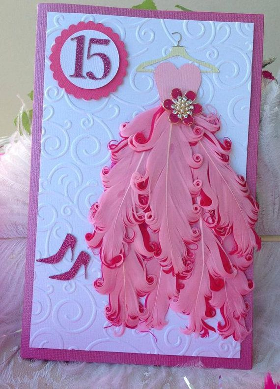 Gorgeous Handmade Quinceañera Invitation with Feathers by MusebyJ