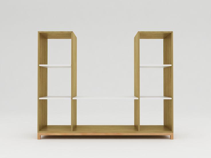 Minimalist modern furniture - Rak TV Kayu Minimalis - White Elegant Teak