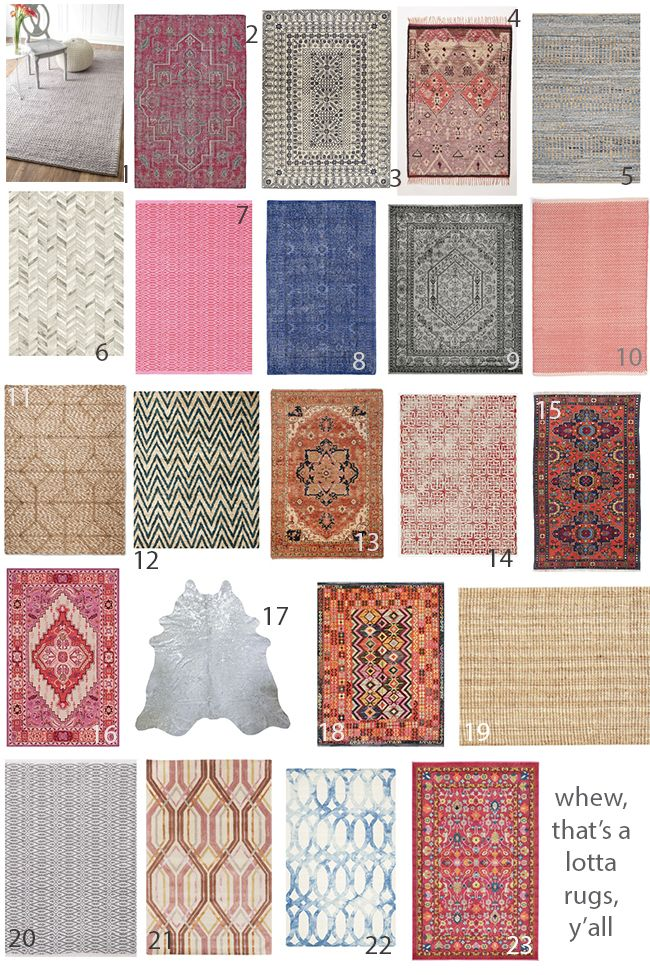 A full rug buying guide, including our top picks for material, pattern, price, and even guidelines for picking the right sized rug for your space.