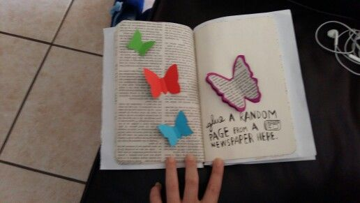 Newspaper butterfly
