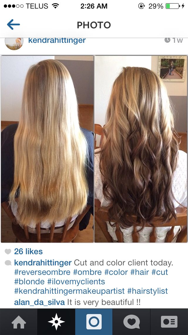 Reverse ombre! Can't wait to do this to my hair!