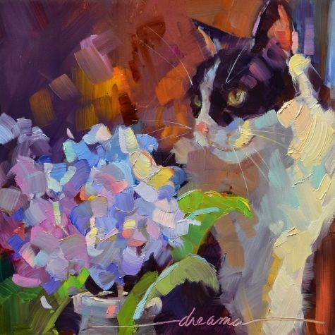 Purrfection SOLD, painting by artist Dreama Tolle Perry