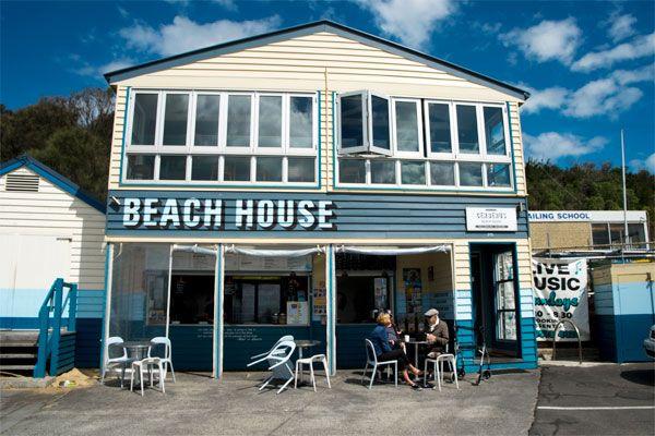 Cerberus beach house cafe in Half Moon Bay Black Rock