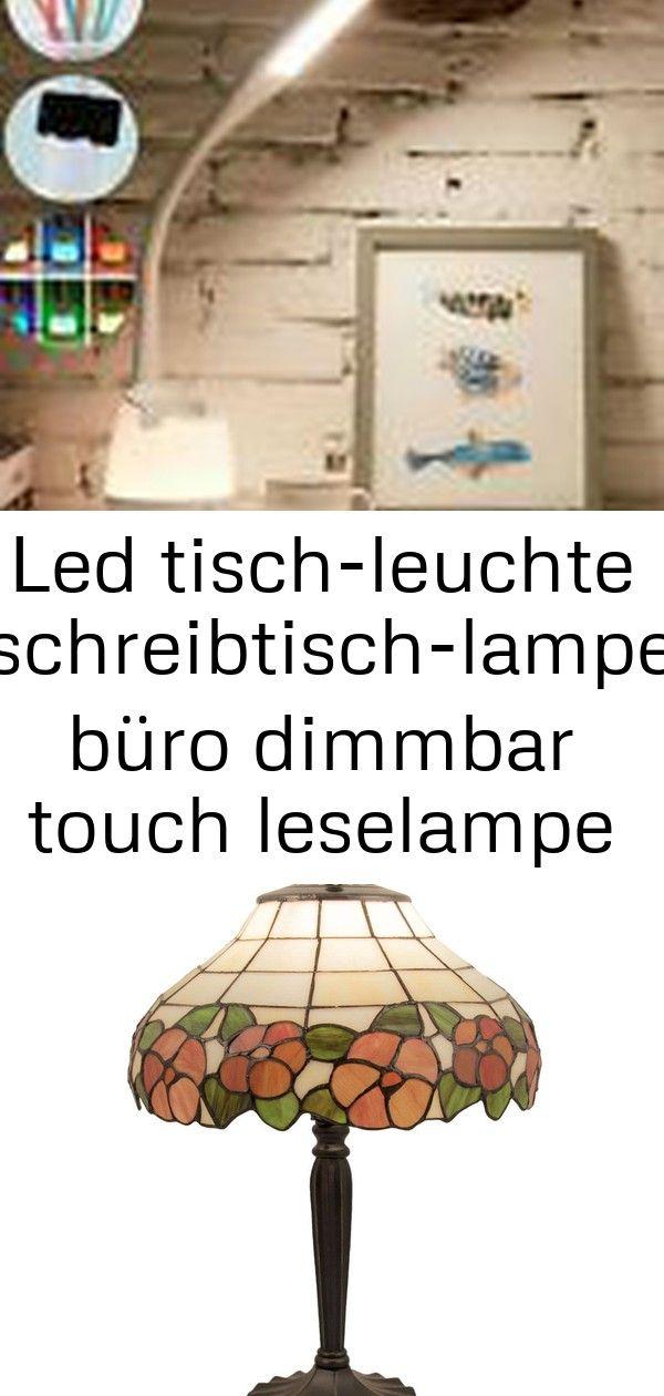 LED Tisch-Leuchte Schreibtisch-Lampe Dimmbar Leselampe Nachttisch USB-Leuchte ob