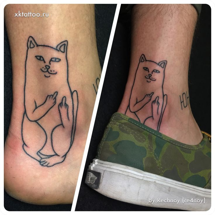 ripndip cat By Dmitry Rechnoy. XKTattoo