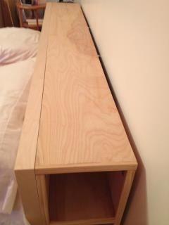 IKEA Hackers: King size MALM bed with no headboard storage solutions available? Time to get HACKED