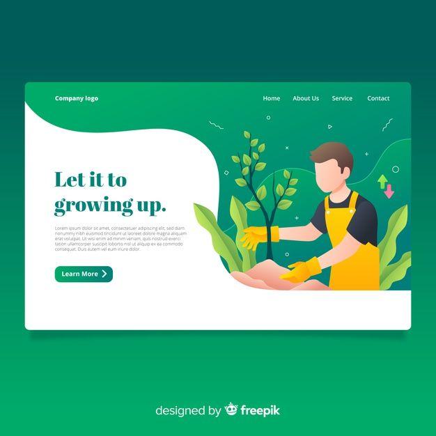 Download Growing Up Landing Page For Free Seiten Vorlage Web Banner Aufwachsen