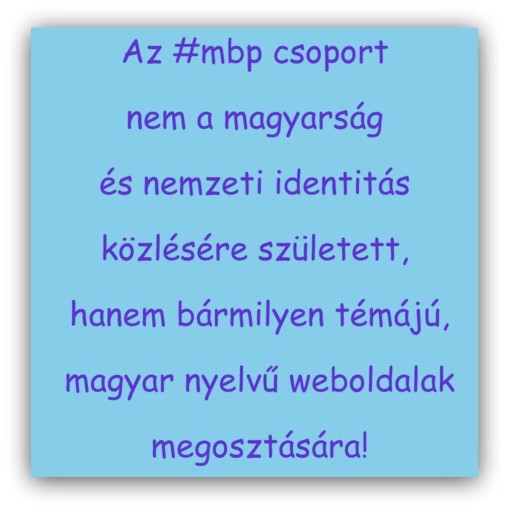 Még hozzátenném, nem elég csak a pineknek (képeknek) magyarnak lennie - ha van időm ellenőrzöm a linkeket -, ha nem magyar nyelvű az oldal, ami megosztásra kerül, akkor azt törlöm. A pinteresten már bármit meg lehet találni - arra van a saját táblája mindenkinek, abba lehet gyűjtögetni -, ebben a csoportban kizárólag magyar nyelvű weboldalak legyenek! #mbp https://hu.pinterest.com/EniG_/magyar-blogok-a-pinteresten/