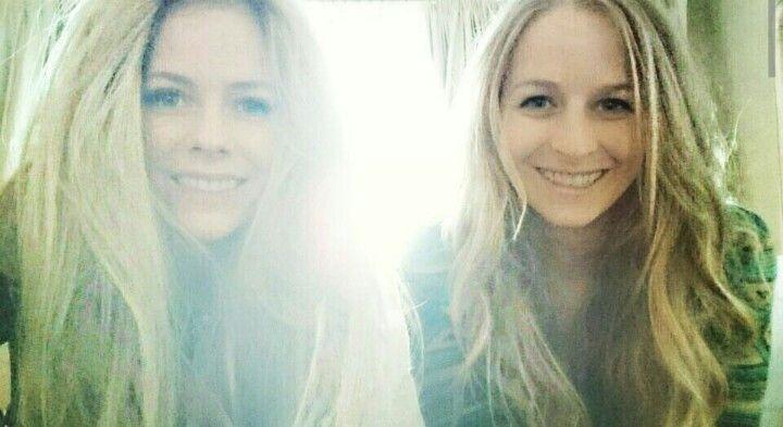 Avril Lavigne and her sister Michelle Lavigne