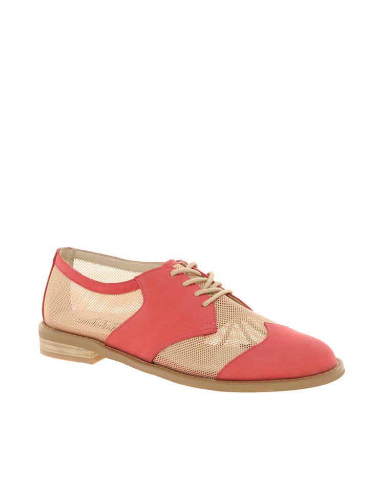 mesh saddle shoes