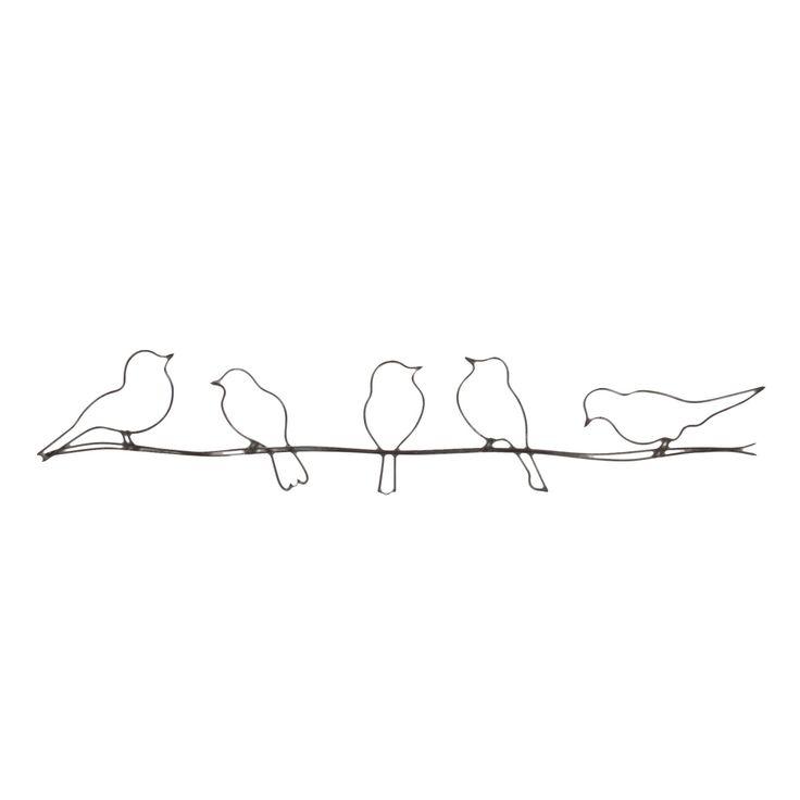 Décoration murale Gris - Birds - Décoration murale - Affiches et déco murale - Salon et salle à manger - Décoration d'intérieur - Alinéa