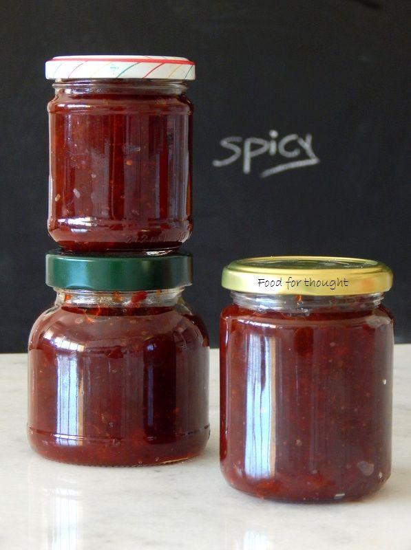 Food for thought: Μαρμελάδα καυτερής πιπεριάς τσίλι | Chilli Jam
