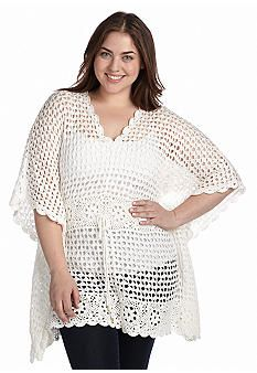 MICHAEL Michael Kors Plus Size Crochet V-Neck Tunic