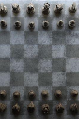 チェス盤 | 鳥と中庭