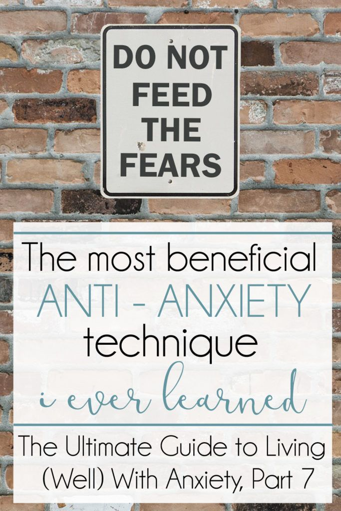 Of all the beneficial things I have tried for anxiety, If I had to pick one technique that has helped the most, this is probably it.