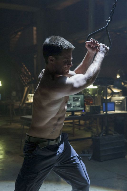 Arrow: And now, I present your shirtless MVP of 2012: Oliver Queen, aka Arrow (Stephen Amell).