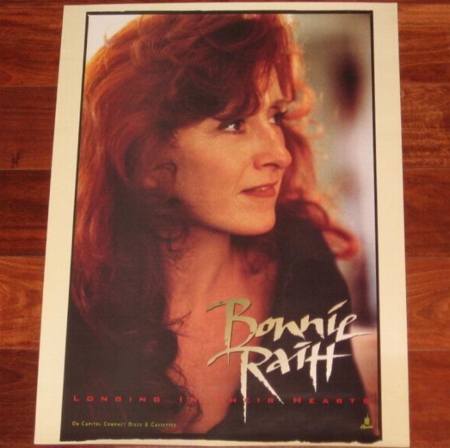 Bonnie Raitt Longing In Their Hearts Rare Orig 1994 Capitol Records Promo Poster