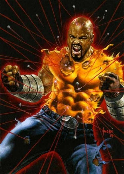 Luke Cage Art by Joe Jusko