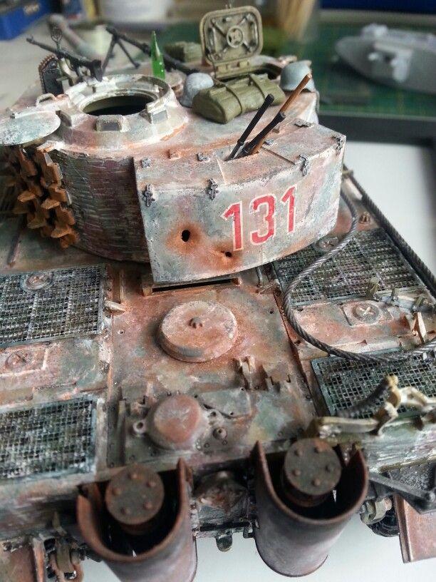 Tamiya 1/35 Tiger I in Winter White Wash. | Model Tanks ...