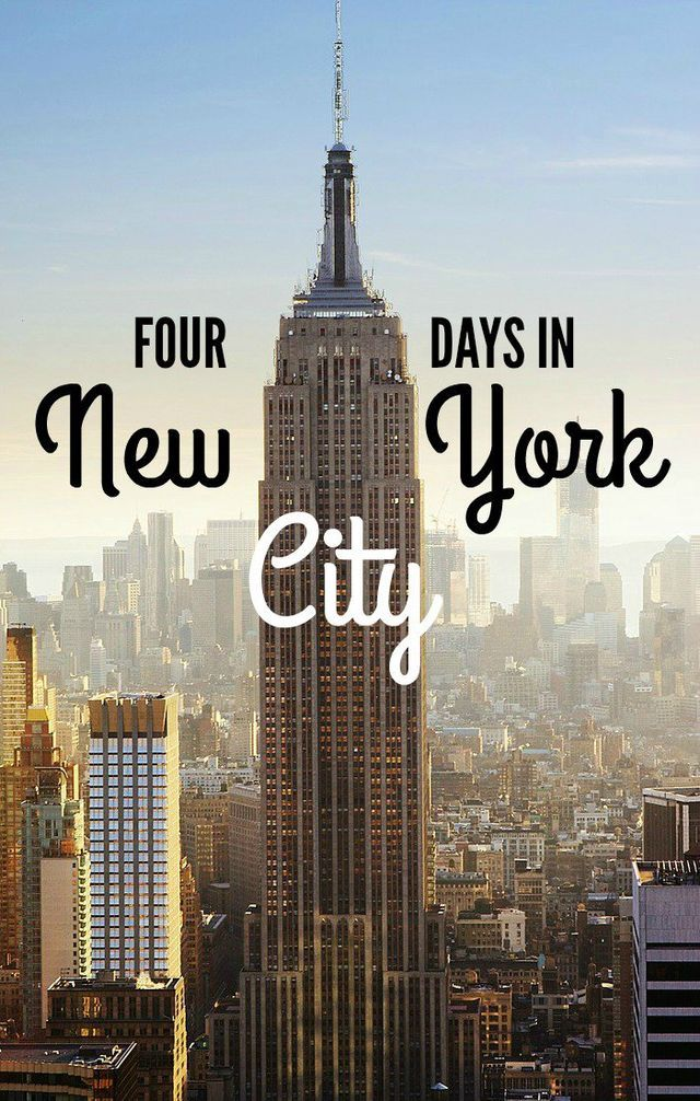 When my friends visit New York City, they want to see it all. They have laundry lists of places to visit, things to do, restaurants to eat and bars to drink at! It's a frantic schedule even for this N