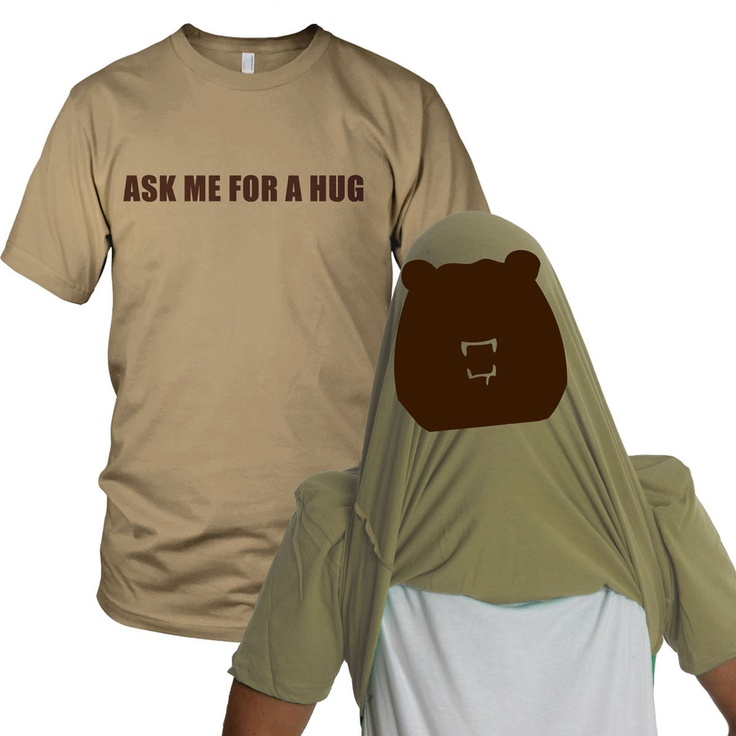 Fab.com | Bear Hug Flip Up Tee...these shirts are cracking me up!!