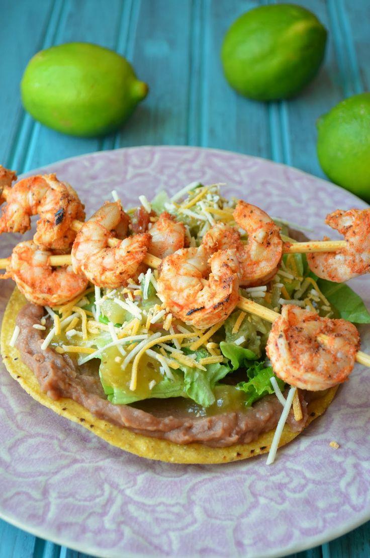 The Savvy Kitchen: Spicy Grilled Shrimp Tostadas