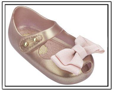 Mini Melissa My First Melissa-Metallic Pink-Mini Melissa Shoes,Mini Melissa My First Melissa Shoes,Baby Shoes,Glitter Shoes,Mini Melissa Scottsd
