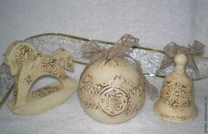"""Новогодний набор игрушек """"Костяной"""" - шар музыкальный,музыкальный шарик"""