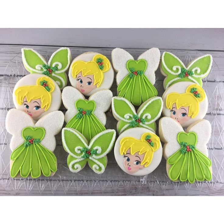 """103 Likes, 16 Comments - Denyse (@denyse_flourfairycookies) on Instagram: """"Little Tink wants to go to the party too!!! #instacookies #rolledsugarcookies #cookies #tinkerbell…"""""""