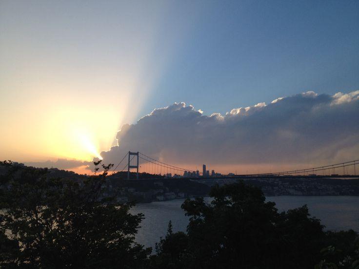 istanbul sunset... anadolu hisari