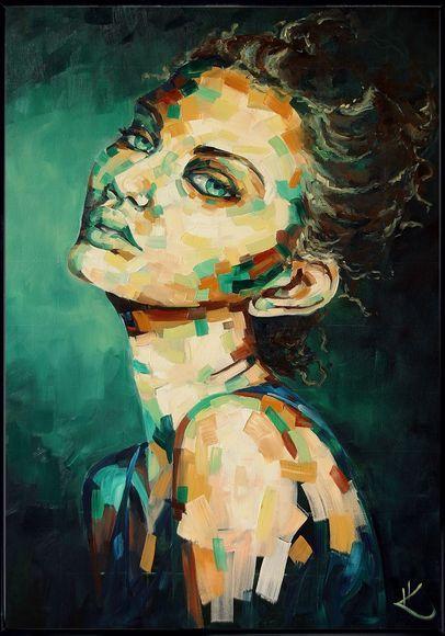 """Oil painting """"Medusa"""""""