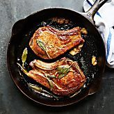 Pan-Roasted Brined Pork Chop Recipe - Bon Appétit
