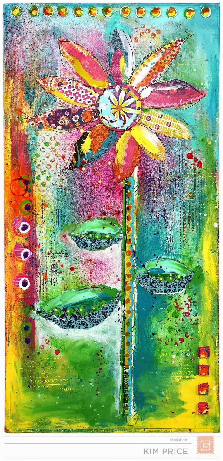 563 best canvas ideas images on pinterest canvases for Mixed media canvas art ideas