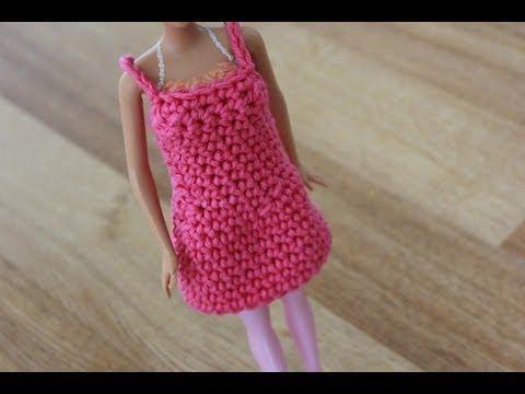 ▶ Crochet Barbie Dress Tutorial Pattern - Right Handed - YouTube