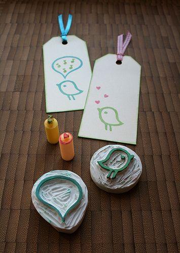 eraser stamps fever by ola smith, via Flickr