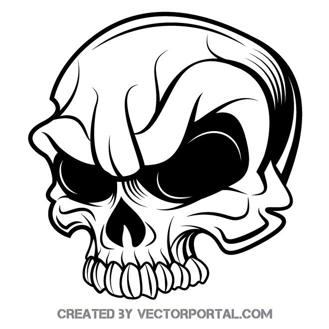 Illustration Drawing Skull Png Download Free Clipart - Skull With Knife In  Mouth Transparent Png (#1134033) - PikPng